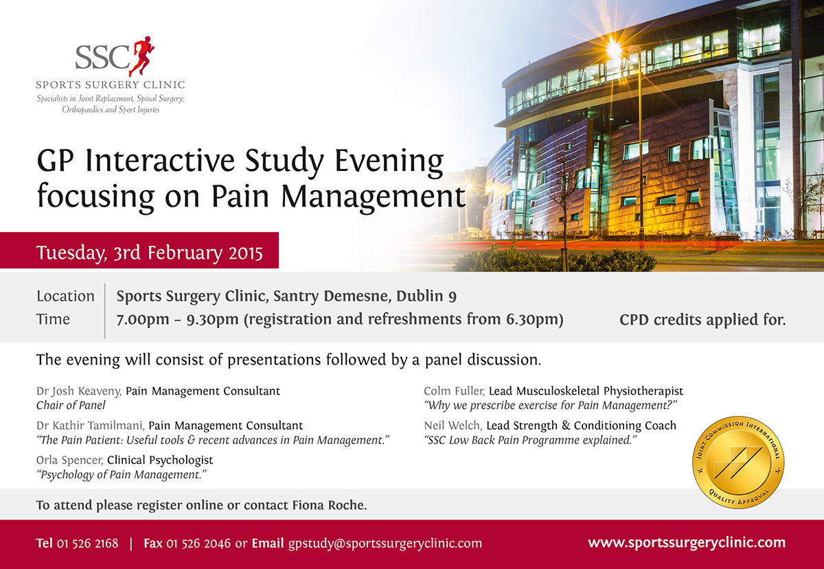 Gp Interactive Study Evening Focusing On Pain Management