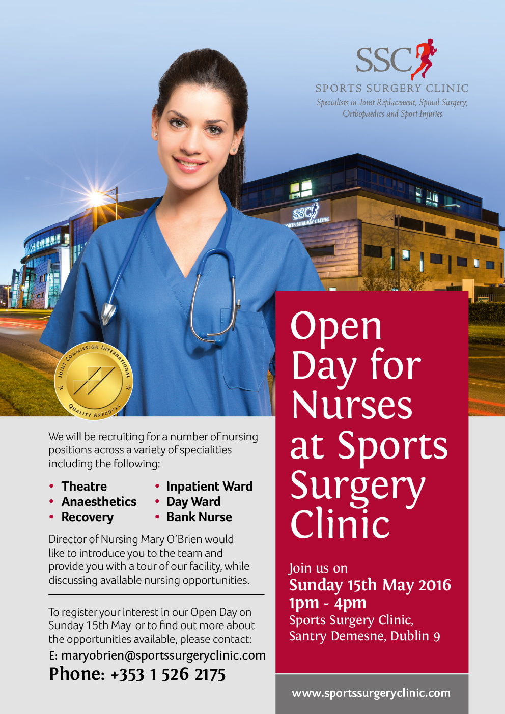 Open Day for Nurses at Sports Surgery Clinic