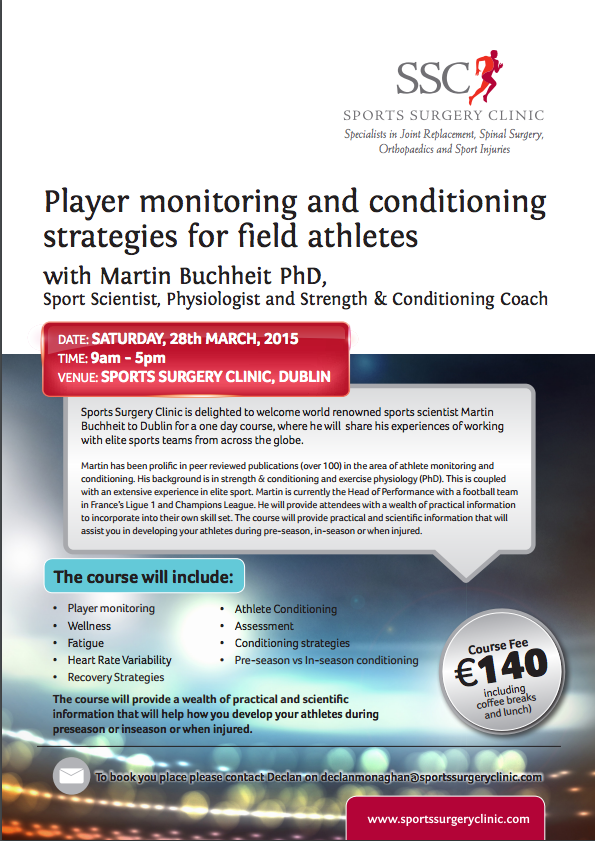 Player monitoring and conditioning strategies for field athletes