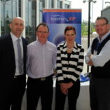 Dr Eanna Falvey, Director Sports & Exercise Medicine SSC with sponsors.